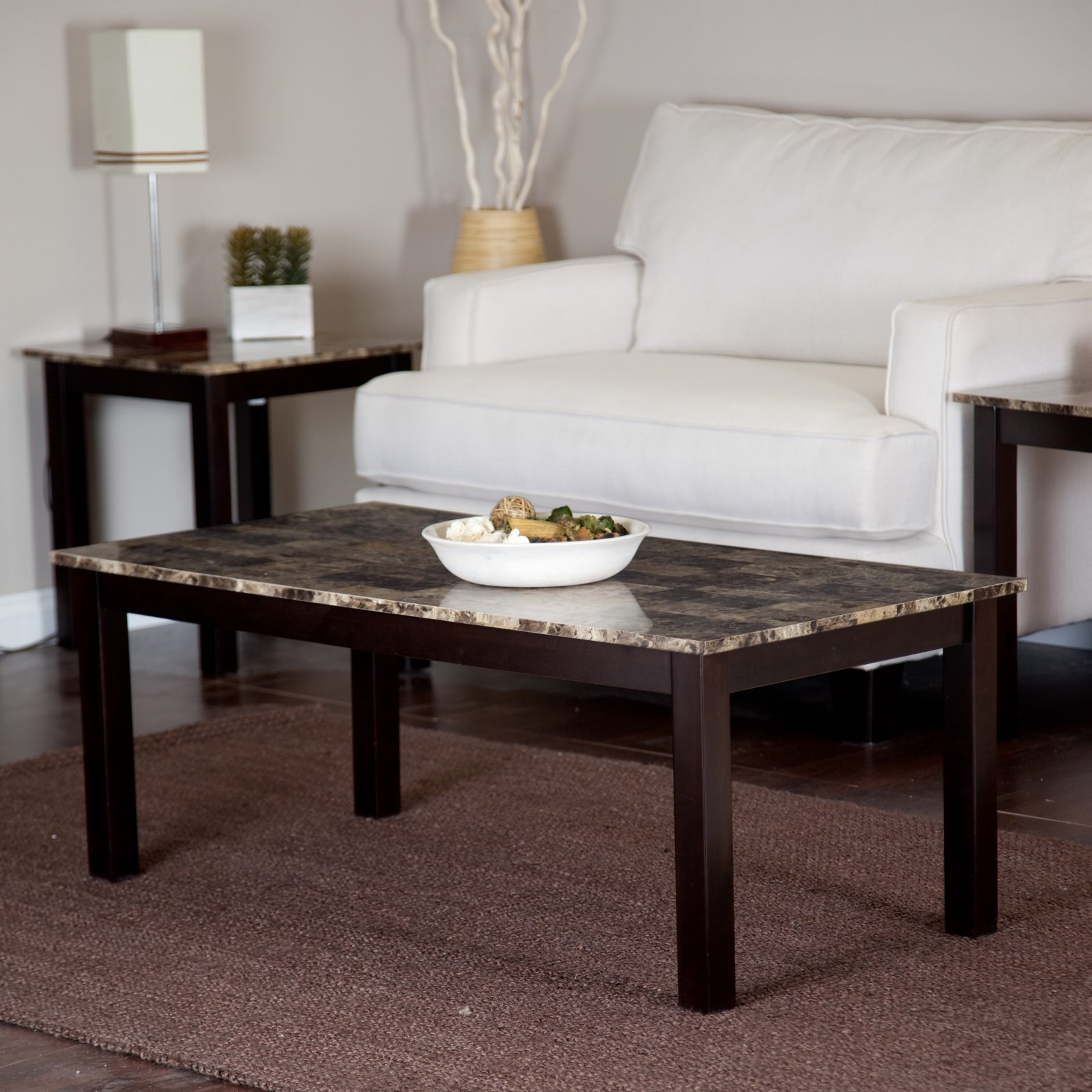Palazzo Faux Marble Coffee Table