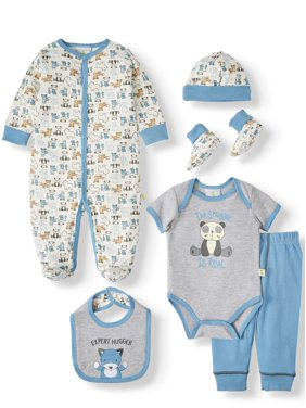 Duck Duck Goose Baby Shower Layette Gift Set, 7pc (Baby Boys)