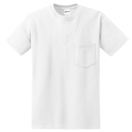 Gildan DryBlend 50 Cotton/50 DryBlend Poly Pocket T-Shirt, Pack of