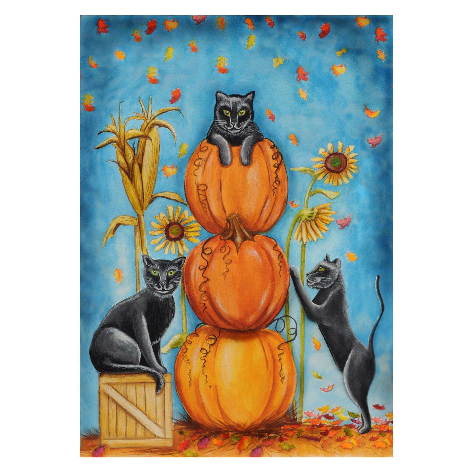 Toland Home Garden Harvest Cats Flag