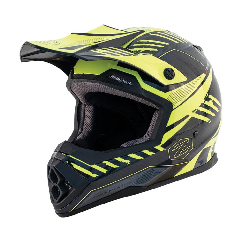 Zox Matrix Carbon Squadron MX Offroad Helmet Hi-Viz Yellow