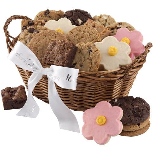 Mrs. Fields Mother's Day Wicker Gift Basket, 4 pc