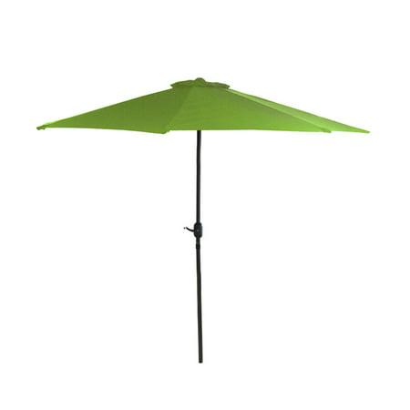 7 5 Outdoor Patio Market Umbrella With Hand Crank Lime Green