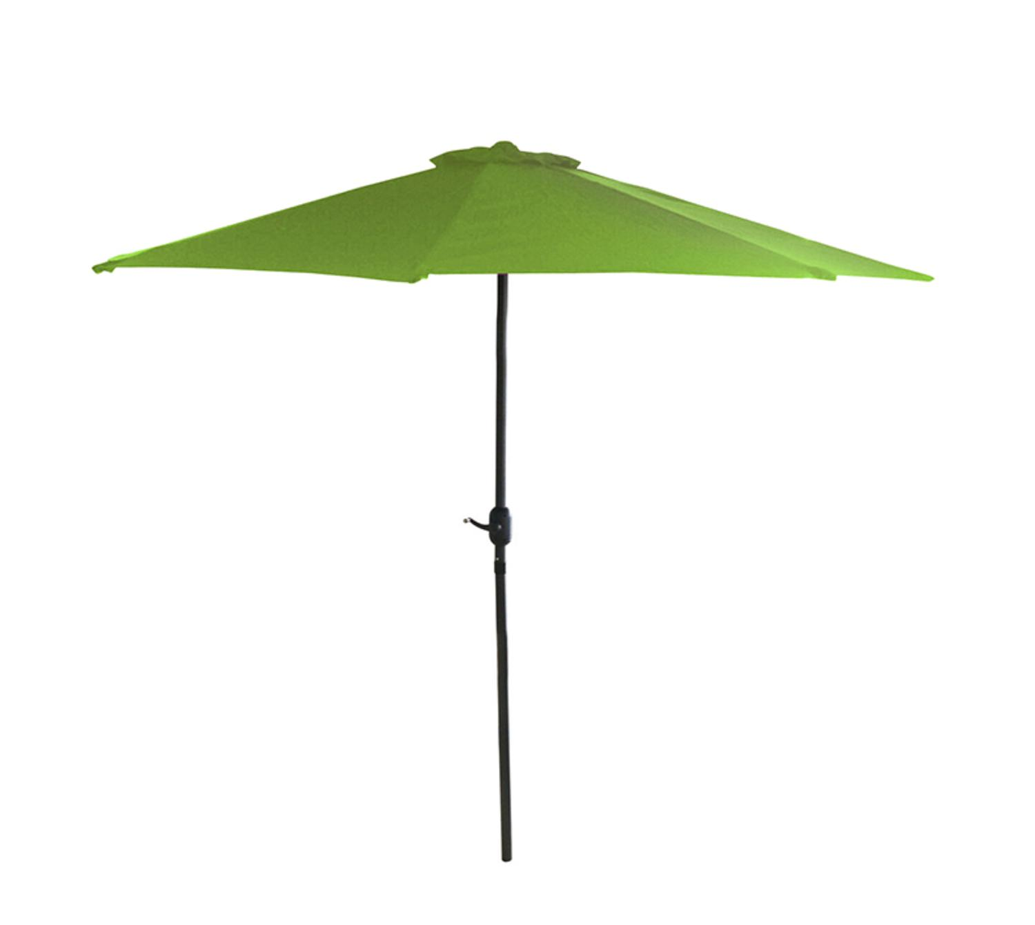 7.5u0027 Outdoor Patio Market Umbrella With Hand Crank   Lime Green