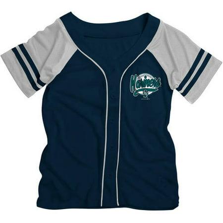 - MLB Seattle Mariners Girls Short Sleeve Button Down Mesh Jersey