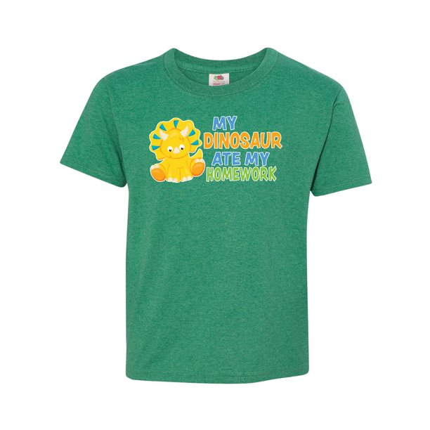 My Dinosaur Ate My Homework With Cute Dinosaur Youth T Shirt Walmart Com Walmart Com