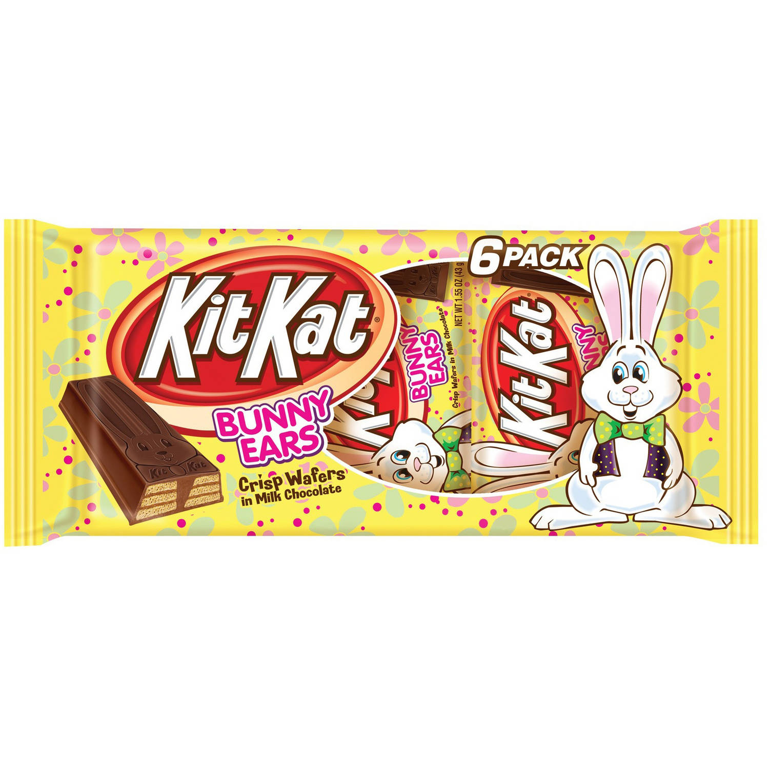 Kit Kat® Easter Milk Chocolate Bunny Ears, 6 Count, 9.3 Ounces