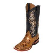 Ferrini Western Boots Womens Python Print Square Toe Bronze 93893-33