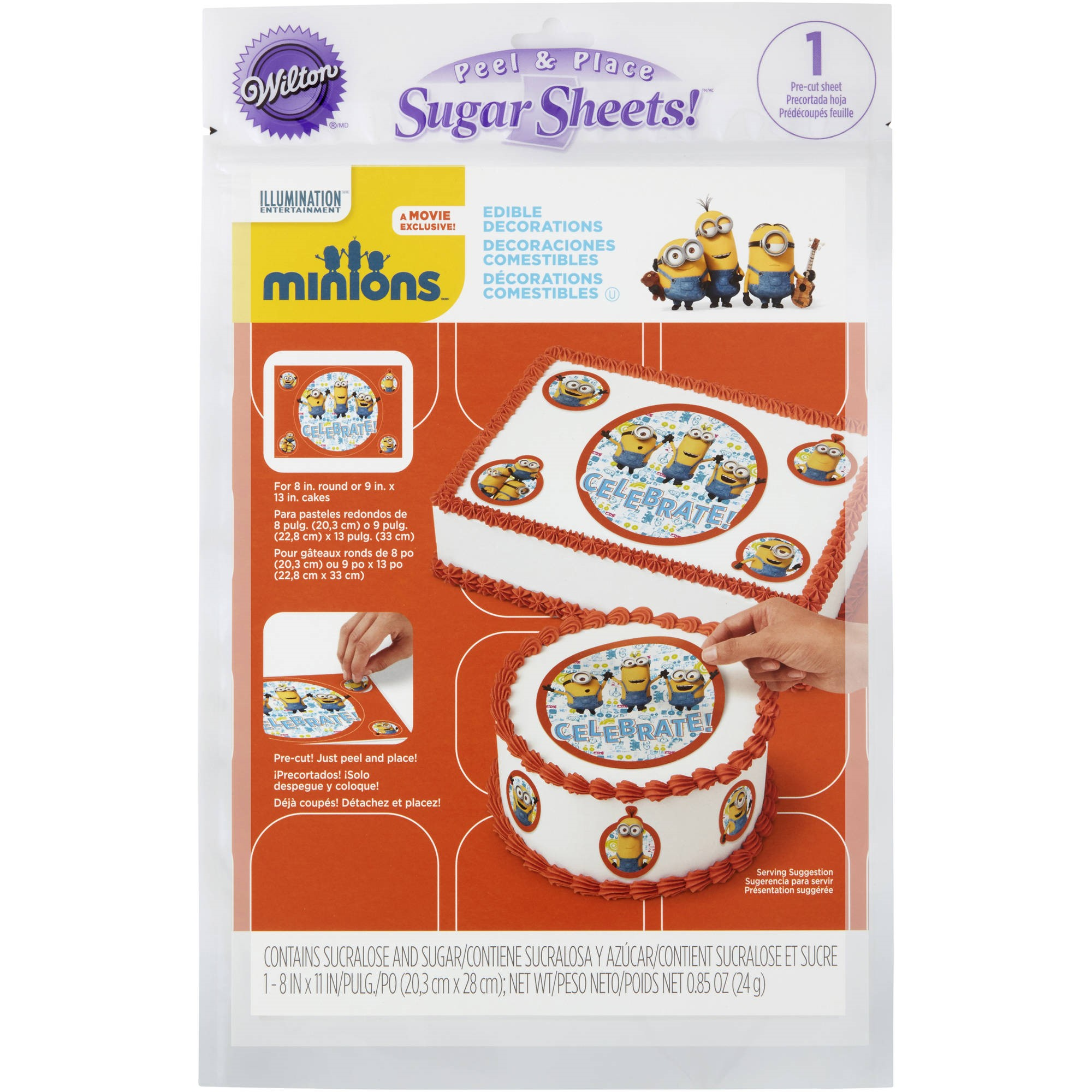 Wilton Minions Edible Images Cake Decorating Kit, 710-4601