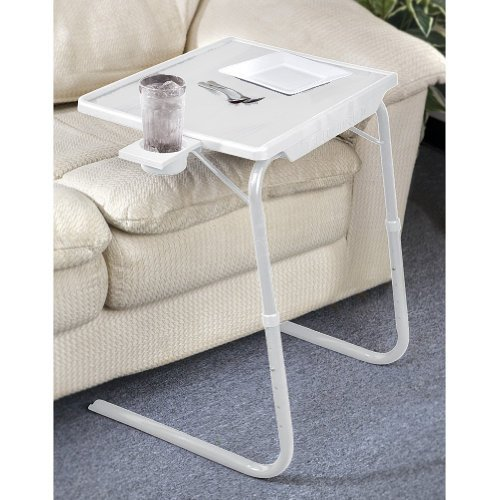 Portable & Foldable Comfortable TV Tray Table w Cup Holder -Black by 5 Star Super Deals
