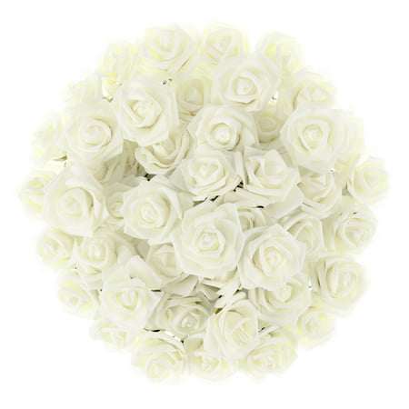 Lucious Roses (Artificial Roses with Stems- Real Touch Fake Flowers for Home Decor, Wedding, Bridal/Baby Shower, Centerpiece, More, 50 Pc Set by Pure Garden)