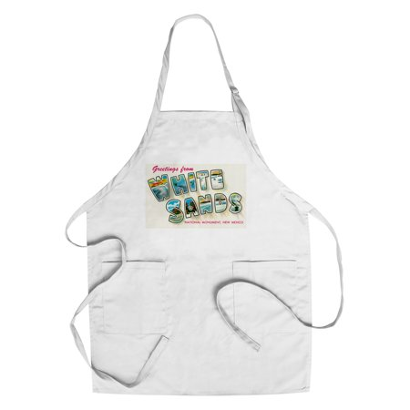 Greetings From White Sands National Monument  New Mexico  Cotton Polyester Chefs Apron