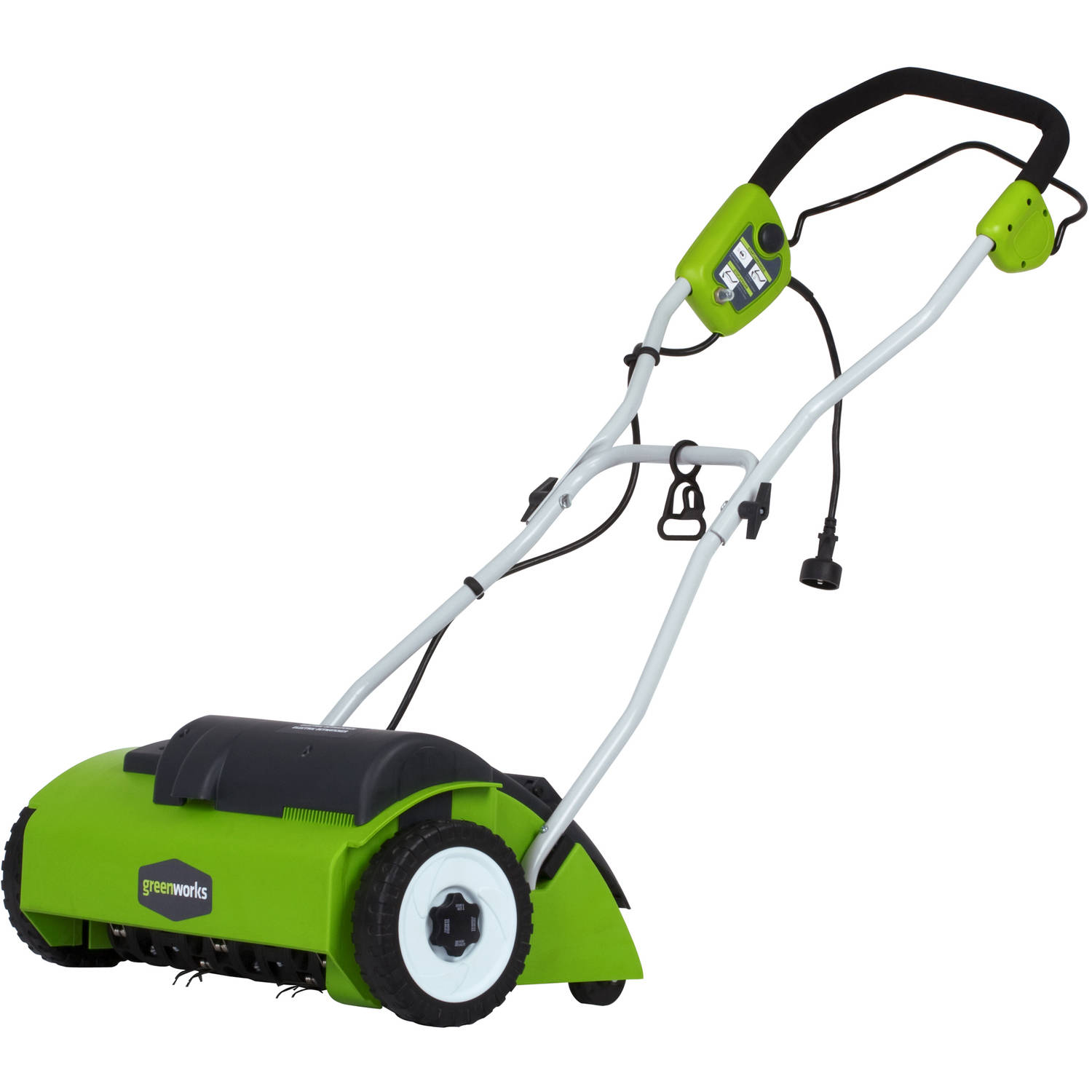 "Greenworks 10 amp 14"" Electric Dethatcher, Green"