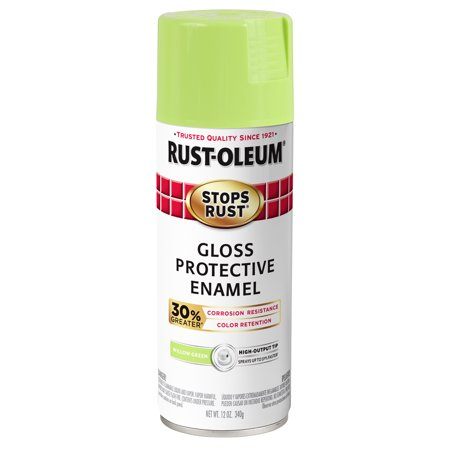 (3 Pack) Rust-Oleum Stops Rust Advanced Gloss Willow Green Protective Enamel Spray Paint, 12 oz