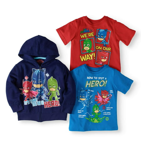 01256531 PJ Masks - Pj Masks Toddler Boy Hoodie And T-shirts - Walmart.com