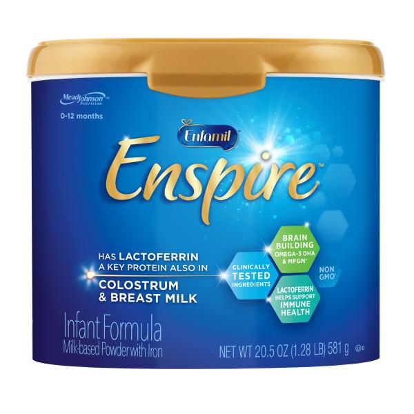 Enfamil Enspire Infant Formula - Our Closest to Breast Milk, Powder, 20.5 oz Tub