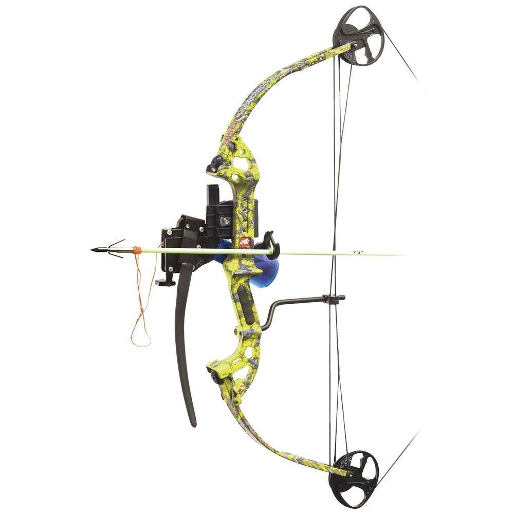 PSE Discovery BF Bowfishing Bow Avec Ams Retriever Paquet Flèche de butée de sécurité-Droitier//LH
