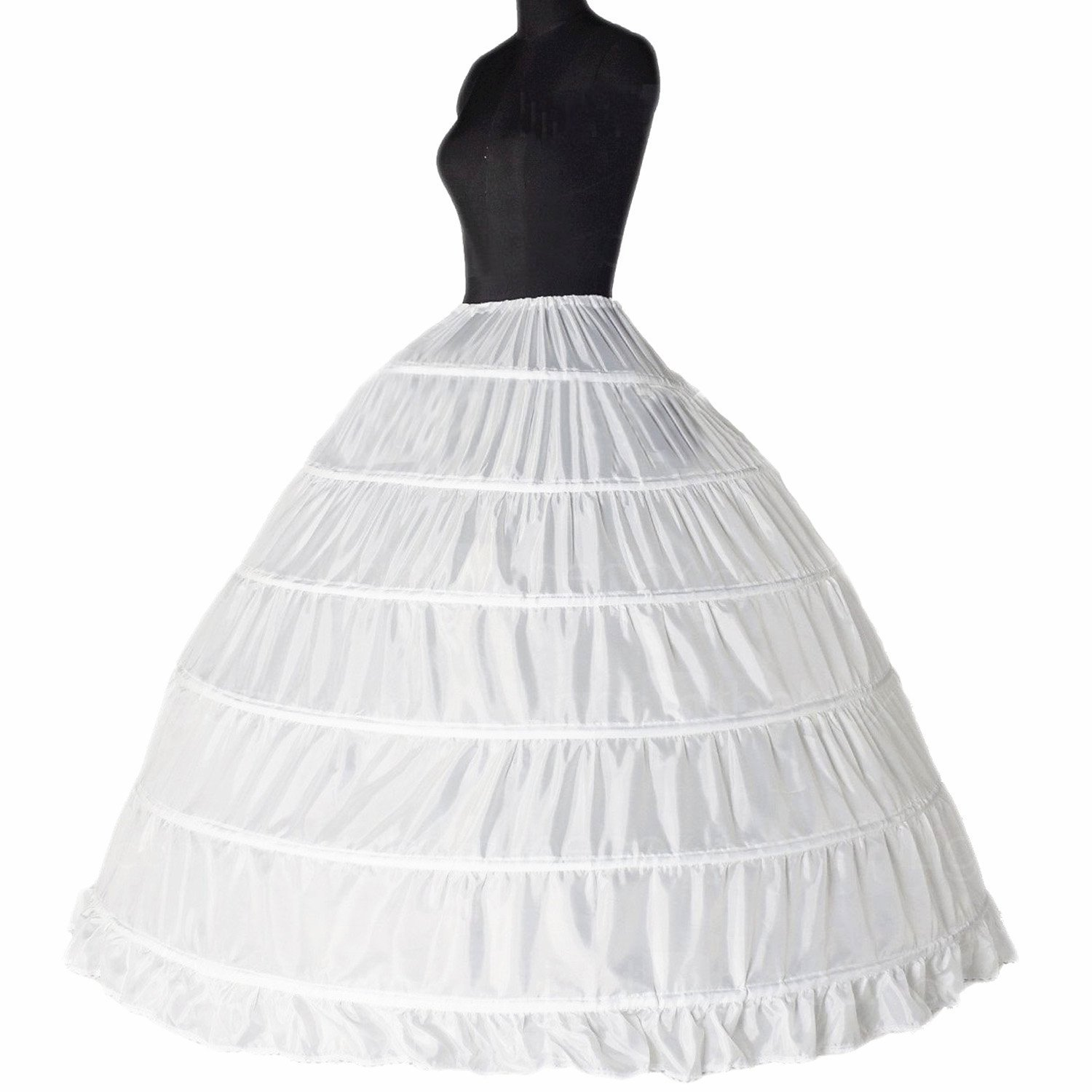 Bridal Petticoats Slips Dress Petticoat Wedding Dress White Underskirt Petticoats Crinoline Slips 6 Hoops by TMISHION