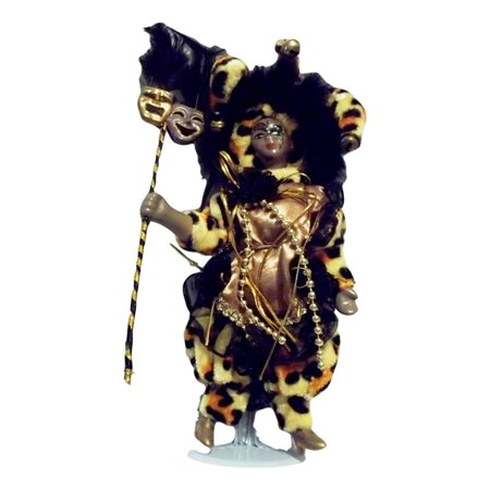 Black Mardi Gras Jester Doll 7