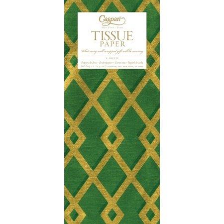 Gift Tissue Paper 88852TIS Trellis Green Gold Tissue Paper (Rose Gold Tissue Paper)