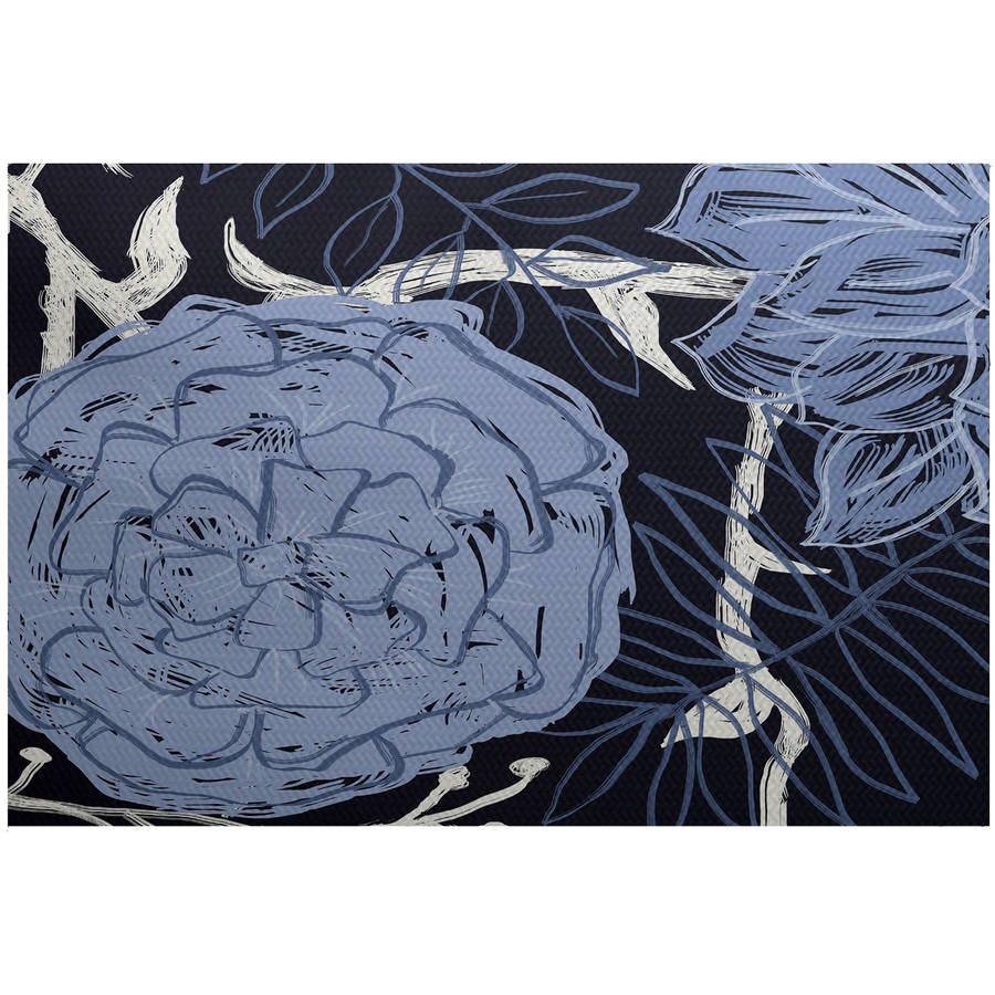 Simply Daisy 3' x 5' Flowers And Fronds Floral Print Indoor Rug