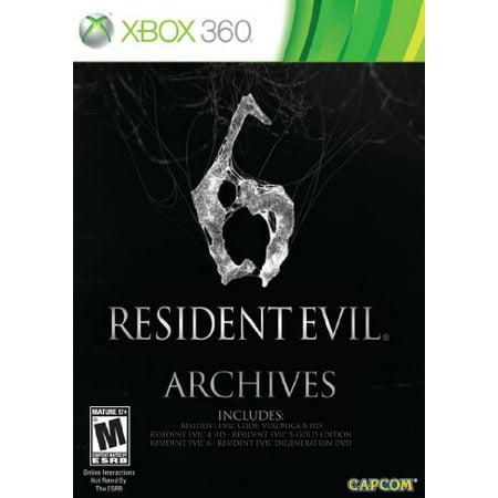 Resident Evil 6 Archives, Capcom, XBOX 360, (Resident Evil Games In Order Xbox 360)