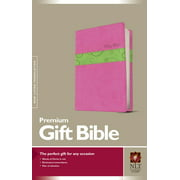 Premium Gift Bible NLT, TuTone (Red Letter, LeatherLike, Bubble Gum/Pistachio)
