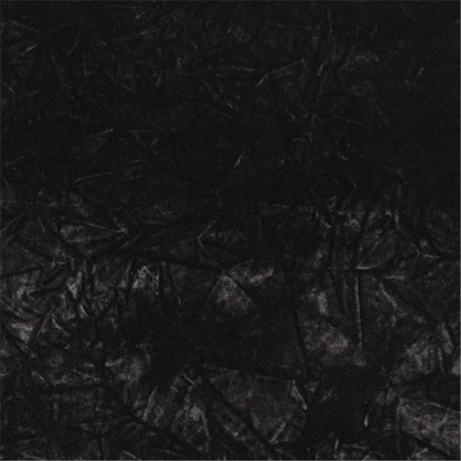 Designer Fabrics C867 54 in. Wide Black Classic Crushed Velvet Residential Commercial And Automotive Upholstery Velvet