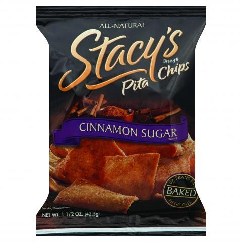 Stacy's Pita Chips, Cinnamon Sugar, 1.5 Ounce Bags (Case of 24)