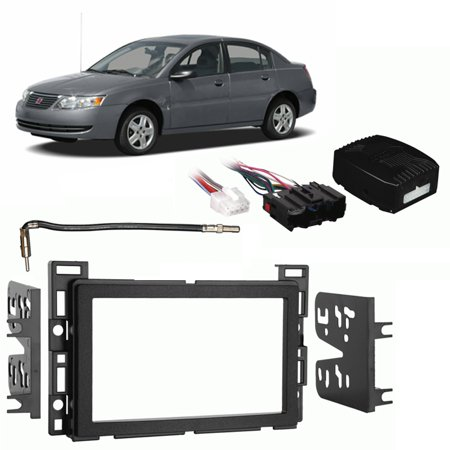 fits saturn ion 2006 2007 double din stereo harness radio. Black Bedroom Furniture Sets. Home Design Ideas