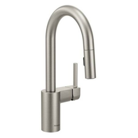Moen 5965 Align Single Handle Pullout Spray Bar Faucet with Reflex Technology - Spot Resist Stainless