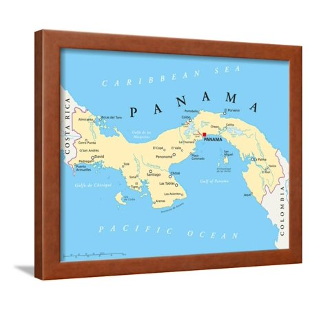 Panama Political Map Framed Print Wall Art By Peter Hermes Furian