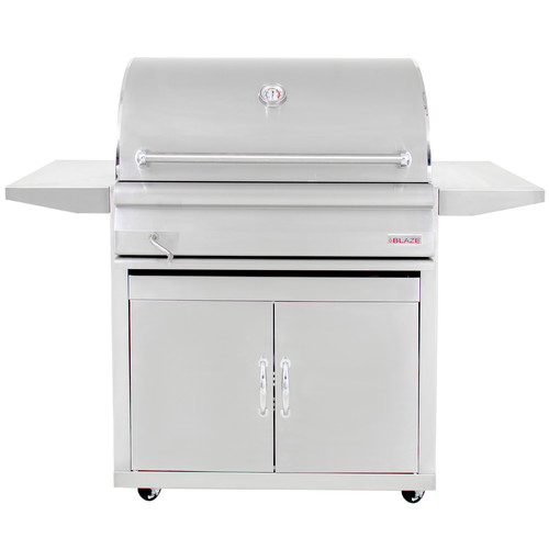 Blaze Grills 33'' Built-In Charcoal Grill with Side Shelves by Blaze