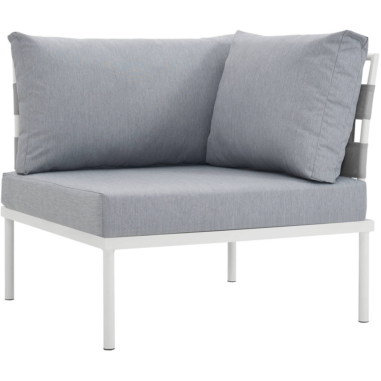 Modway Harmony Outdoor Patio Aluminum Corner Sofa, Multiple Colors