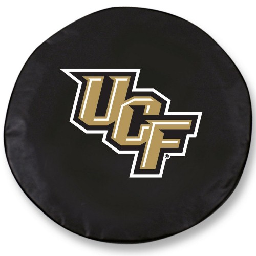 NCAA Tire Cover by Holland Bar Stool - UCF Knights, Black - 30.75'' x 10''