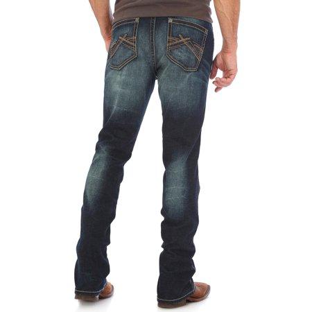 Wrangler Men's Indigo Vintage 20X No. 44 Stretch Jeans Straight Leg - 44Mwxdn