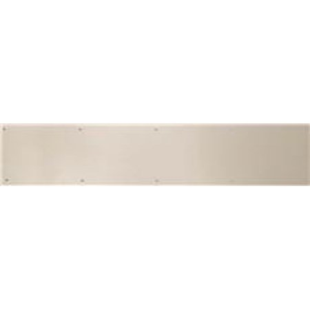SATIN NICKEL ALUMINUM DOOR KICK PLATE 6