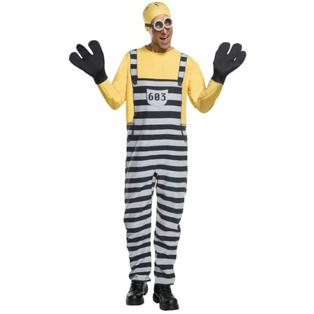 Mens Jail Minion Tom Costume - Adult Minion Costume