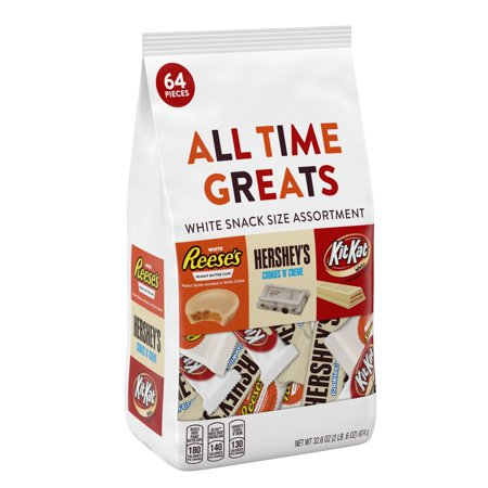 Hershey, All Time Greats White Chocolate Candy Assortment, 32.5 Oz (Kit Kat Halloween)