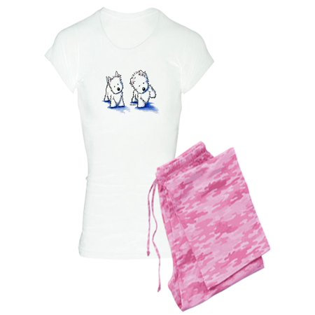 4d7bb187f CafePress - CafePress - Shadowboxing Westies - Women s Light Pajamas ...