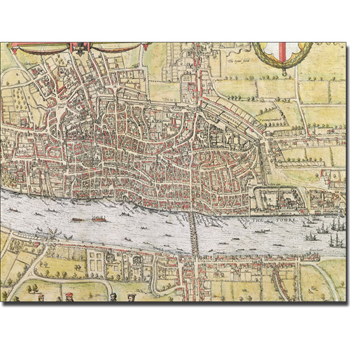 Trademark Art 'Map of London, 1572' Canvas Art