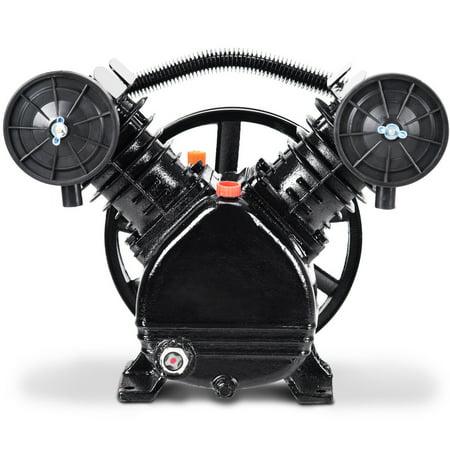 Gymax 3HP 2 Piston V Style Twin Cylinder Air Compressor Pump Motor Head Air Tool