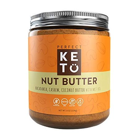 Perfect Keto Nut Butter Snack: Fat Bomb to Support Weight Management on Ketogenic Diet. Ketosis Superfood Raw