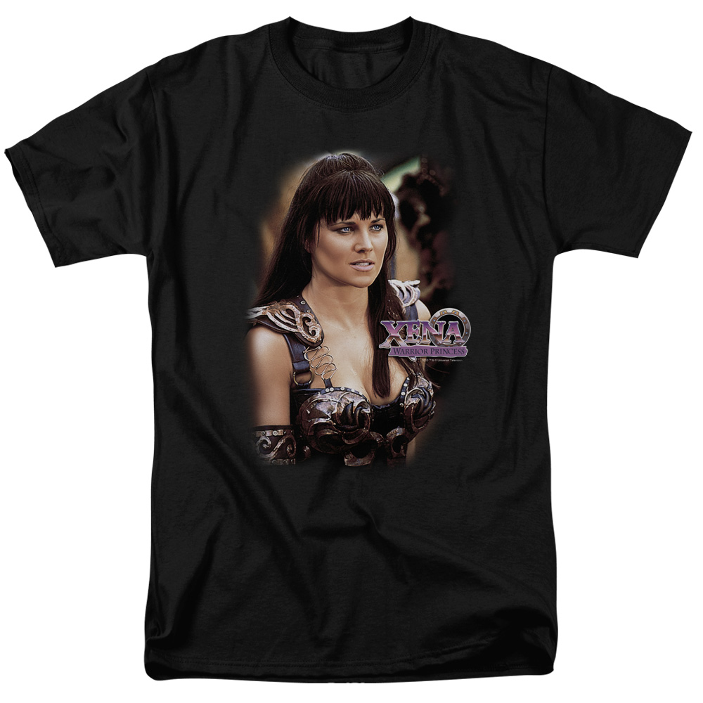 Xena Warrior Princess Mens Short Sleeve Shirt (Black, XXX-Large)