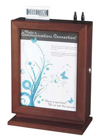 Customizable Suggestion Box, Mahogany ,Safco, 4236MH by Safco