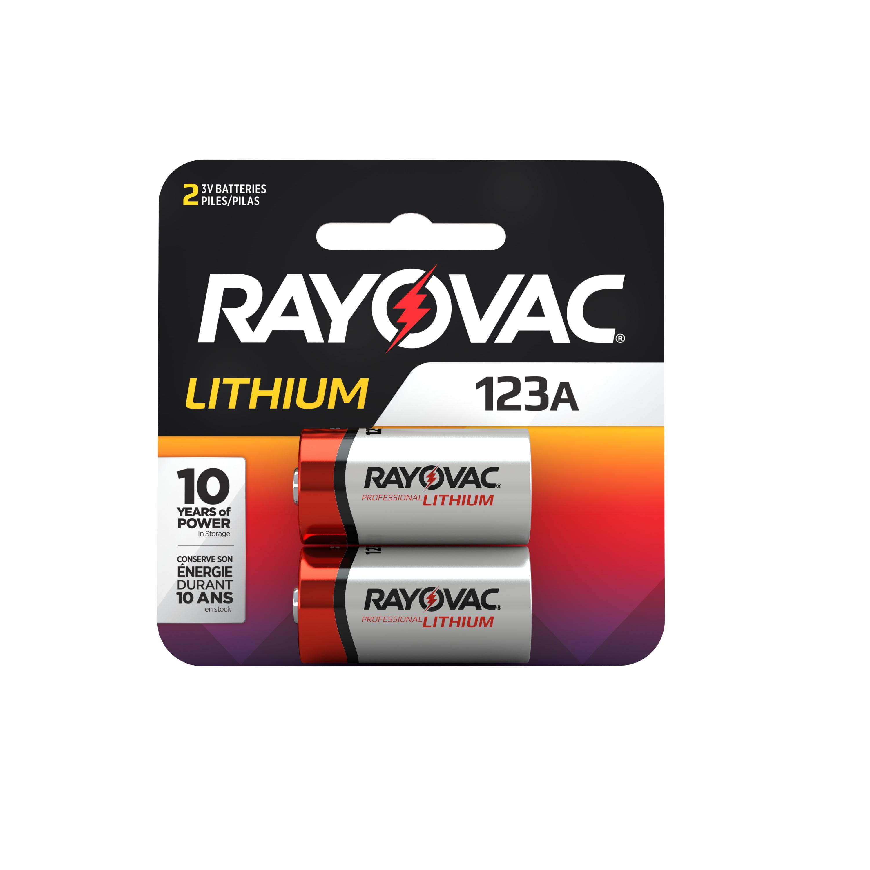 RAYOVAC RL123A-2 CR 123 3 VOLT LITHIUM BATTERIES 2 PACK