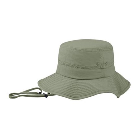 fc481f6fc7c J7227 Taslon UV Outdoor Bucket Hat  44  Olive - Medium   Large ...