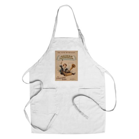 The Edison Phonograph Vintage Poster USA c. 1900 (Cotton/Polyester Chef's Apron)