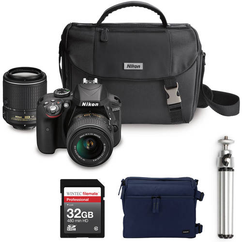 Choose your Nikon D3300 DSLR Camera with Lens Accessories value bundle