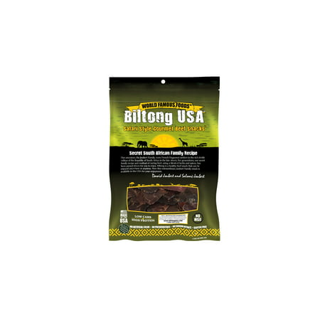 Biltong USA Grass Fed Biltong Sliced, Original Flavor, 4oz